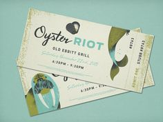 Oyster Riot | Two Arms Inc.