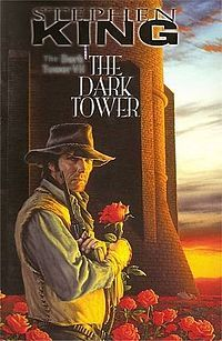 "The Dark Tower Series: series of books by Stephen King about a ""gunslinger"" and his quest toward the dark tower."