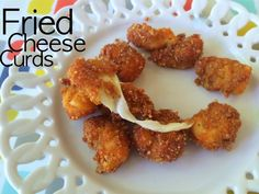 Low carb fried cheese curds!