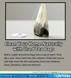 Cleaning - Clean Your Home Naturally with Used Tea Bags