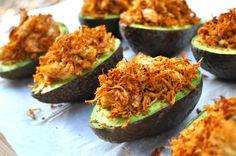 shredded chicken stuffed avocados