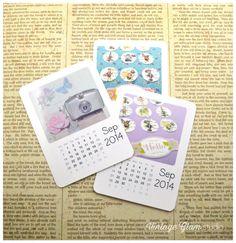 Free September Mini Calendars from Vintage Glam Studio
