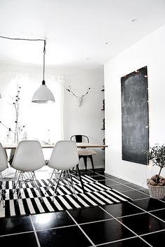 black & white,Dining room