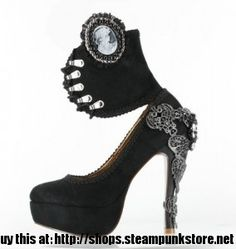 Steampunk Pumps with Ankle Cuff - Victorian High Heels | Steampunk ShopSteampunk Shop