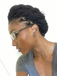Plaits with no extensions #naturalhair.  #OfficiallyNatural #Braids #NaturalHair