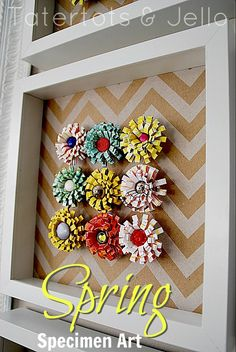 Spring DIY Wall Art. A fun paper crafting tutorial by @jenjentrixie