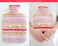 Free hot water bottle pattern. Very handy for the dip in weather... thanks so for sharing xox
