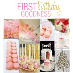 PINK AND GOLD BIRTHDAY - Polyvore