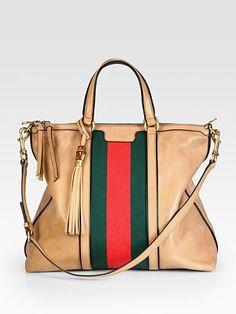 Gucci Rania Leather Top Handle Bag