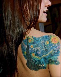 "I really want a ""Starry Night"" tattoo"