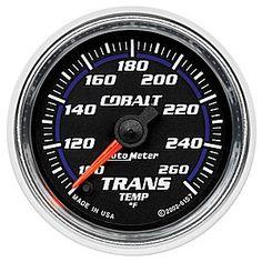 Auto Meter Cobalt Transmission Temperature Gauge