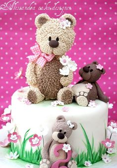 Teddy Cake by Alessandra Cake Designer, via Flickr