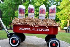 Strawberry push pops