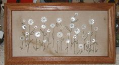 button crafts projects | One of my favorite button projects. This is a coffee/tea stained old ...