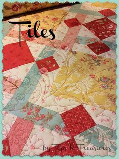 Moda Bake Shop: Tiles Quilt by Cindy Sharp using Printemps by 3 Sisters @ModaFabrics