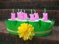 Peeps on a straw~ cute idea!