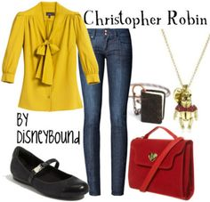 cloth, disney inspired, outfit, christoph robin, robins, disneybound, disney bound, winnie the pooh, disney fashion