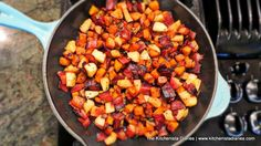appl hash, food, breakfast goodi, potatoes, kitchenista diari, diaries, apples, bacon hash, sweet potato