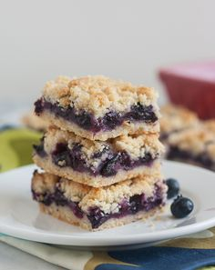 Blueberry Crumb Bars - great for after school!