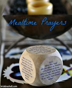 Mealtime Prayers: fun cube-dice prayers & a new weekly prayer from Schell's Cafe.