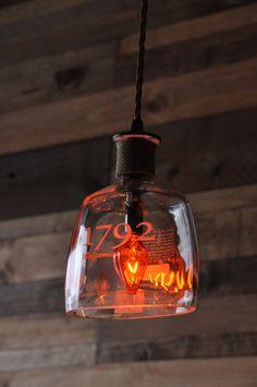 Recycled Bottle Lamp 1792 Hanging Pendant by MoonshineLamp on Etsy, $119.00