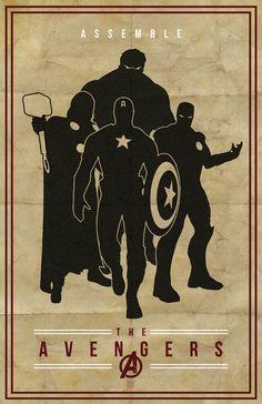 geek, graphic, aveng assembl, posters, art deco, poster designs, print, superhero, the avengers