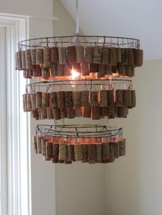 Wine Cork Chandelier
