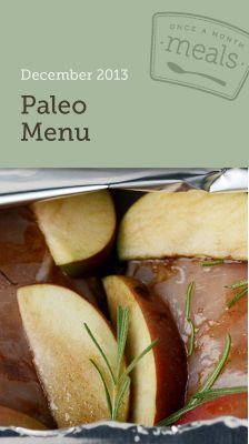 Paleo December 2013 Freezer Menu- A menu for making a month of meals in one day that are Paleo. #freezercooking #menuplanning #paleo