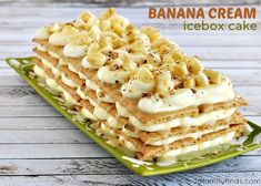 Banana Cream Icebox Cake Recipe