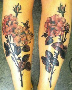 Black and Pink Flowers Tattoo - Amanda Grace Leadman http://tattoosflower.com/black-and-pink-flowers-tattoo-amanda-grace-leadman/