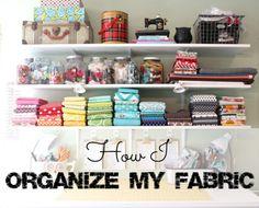 how i organize my fabric