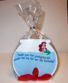 Little Mermaid Birthday Party Bag idea