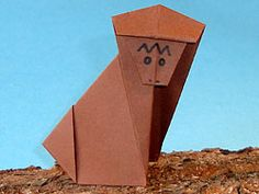 Animal origami on pinterest basteln origami paper and for Affe basteln