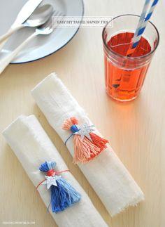 DIY Tassel Napkin Ties + Gift Toppers