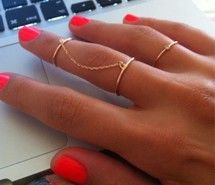 thin gold chain rings