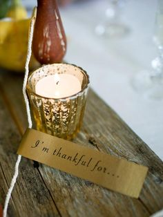 Make a chain of thanks.  Print out our free template, attach to twine and ask your #Thanksgiving guests to write down what they're thankful for, then take turns reading the sentiments aloud during dinner.