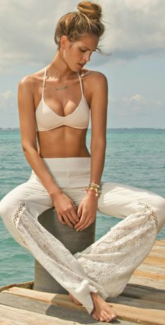 L Space 2014 | Boardwalk Ivory Pant BOAPA14 | Southbeachswimsuits |