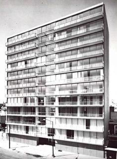 "Edificios de Departamentos ""Séneca"", Calle Séneca 141, Polanco, México DF n.d.    Arq. Abraham Zabludovsky -    ""Seneca"" apartment building, Polanco, Mexico City nd"