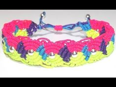 Video - tutorial: Pulsera de ochos multicolor con nudos de macramé.