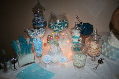 Candy bar for winter wonderland birthday party