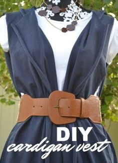Super simple instructions on how to make this cardigan vest