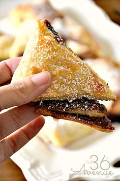 Easy Two Ingredient Chocolate Turnover