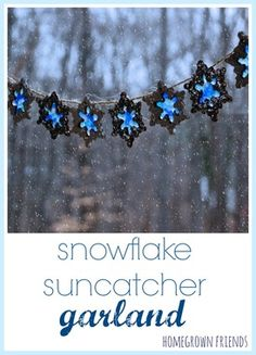 snowflake salt dough suncatcher garland