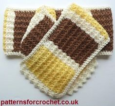 Free crochet pattern for Pretty textured scarf http://patternsforcrochet.co.uk/pretty-scarf-usa.html #patternsforcrochet