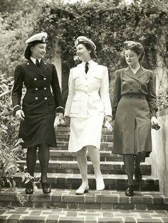 US Naval Hospital San Diego Nurses Modeling Uniforms 1944. I love a women in uniform. Don't you?
