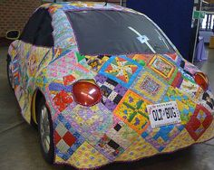quilted vw bug, I know it's not anything I'd ever do but it is kind of a fun and over-the-top look.