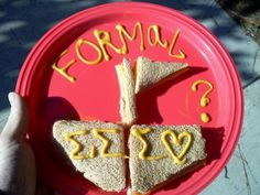 This is definitely how I'm going to ask someone to be my date for formal!