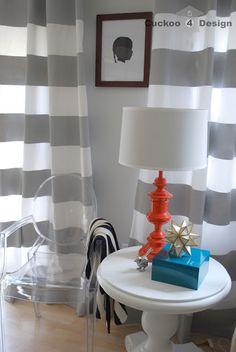 DIY fun colored lamps...love tangerine