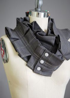 cool scarf for upcycled wool