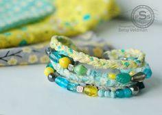 braceletgreenblu, craft, braided bracelets, bead bracelet, colors, fabric scrap, bracelet tutori, fabric beads, diy bracelet